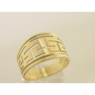 Χρυσό δαχτυλίδι Κ14 χωρίς πέτρες Γκρέκα ΔΑ 000110 Βάρος 6.78gr f3389fb6e36