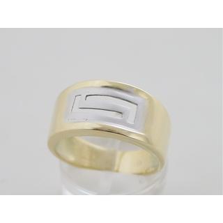Χρυσό δαχτυλίδι Κ14 χωρίς πέτρες Γκρέκα ΔΑ 001271 Βάρος 5.63gr a173419bd96