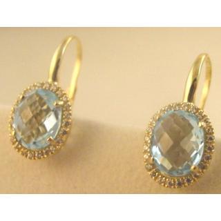 Χρυσά σκουλαρίκια Κ14 με ημιπολύτιμες πέτρες   ζιργκόν Μοντέρνα-Διάφορα ΣΚ  001010Β Βάρος 5.64 11b81bffb51